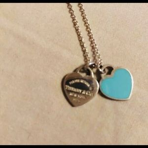 Tiffany & Co. Jewelry - Tiffany and co mini double heart RTT necklace NWOT